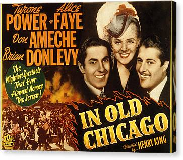 In Old Chicago, Tyrone Power, Alice Canvas Print by Everett