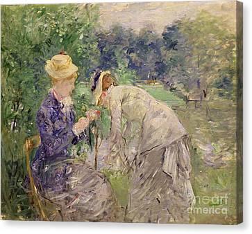 In The Bois De Boulogne Canvas Print by Berthe Morisot