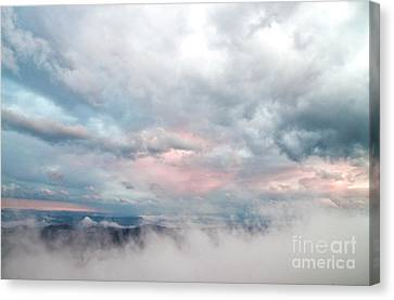 Canvas Print featuring the photograph In The Clouds by Jeannette Hunt