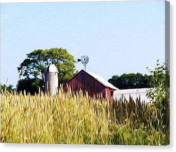 In The Farmers Field Canvas Print by Bill Cannon