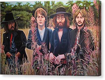 In The Field The Beatles Canvas Print by Sandra Ragan