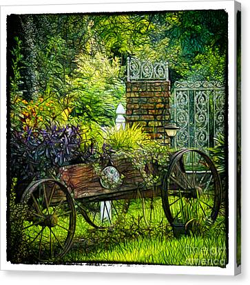 In The Garden Canvas Print by Judi Bagwell