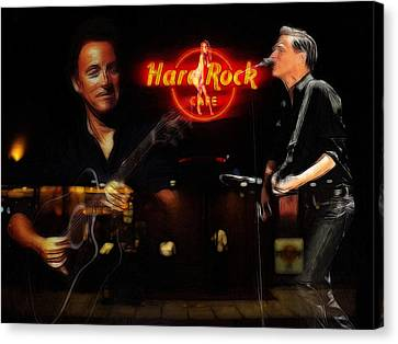 In The Hard Rock Cafe Canvas Print by Steve K