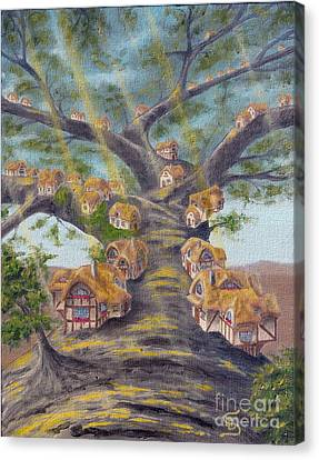 In The Lorn Tree From Arboregal Canvas Print