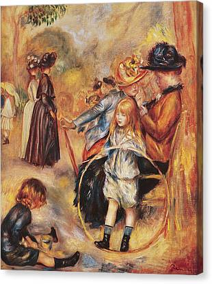 In The Luxembourg Gardens Canvas Print by Pierre Auguste Renoir