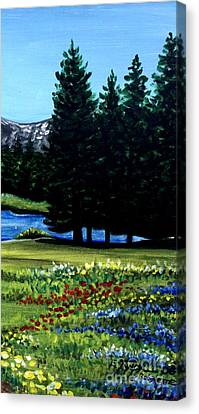 In The Meadow Canvas Print by Elizabeth Robinette Tyndall