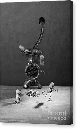 Touching Canvas Print - In The Meat Grinder 02 by Nailia Schwarz