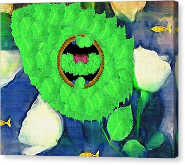 In The Pond Pop Art Canvas Print