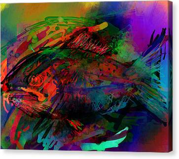In The Sea Are Many Fishie Canvas Print