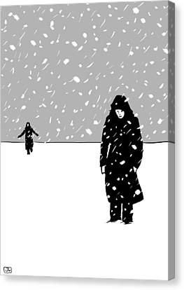 In The Snow Canvas Print by Giuseppe Cristiano