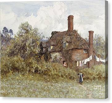 In The Spring Canvas Print by Helen Allingham