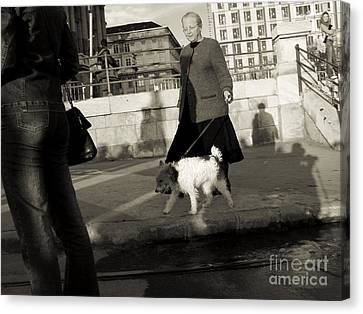 In The Street Canvas Print by Odon Czintos