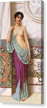 In The Tepidarium Canvas Print by John William Godward