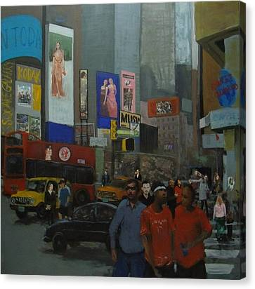 In The Time Square  Canvas Print by Rahman Shakir