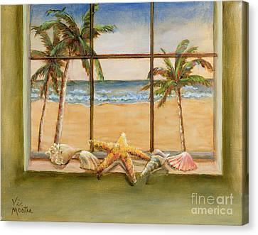 Canvas Print featuring the painting In The Tropics by Vic  Mastis