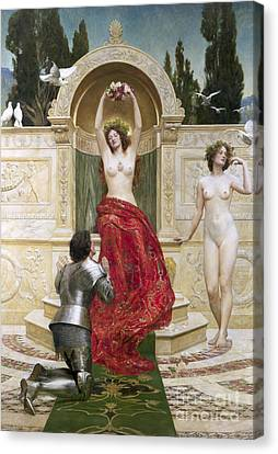 In The Venusburg Canvas Print by John Collier
