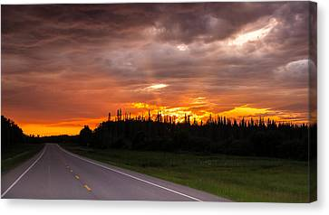 In To The Sunset Canvas Print