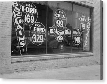 In Washington, D.c. A Used Automobile Canvas Print by Everett
