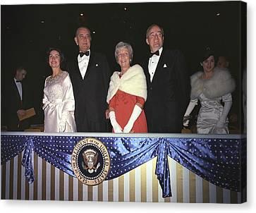 Inauguration Of Lyndon Johnson. Lady Canvas Print by Everett