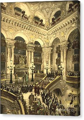 Opening Night Canvas Print - Inauguration Of The Opera House In Paris by Padre Art