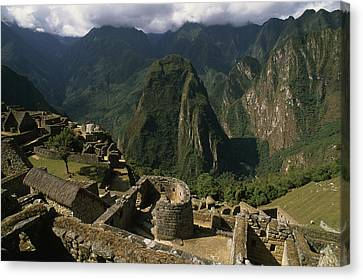 Inca Ruins At Machu Picchu Are Biggest Canvas Print by Gordon Wiltsie