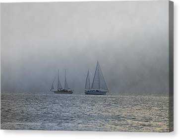 Incoming Fog Bank Canvas Print by Bill Cannon