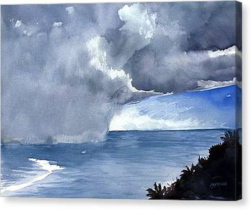 Incoming Squall Canvas Print by Jon Shepodd
