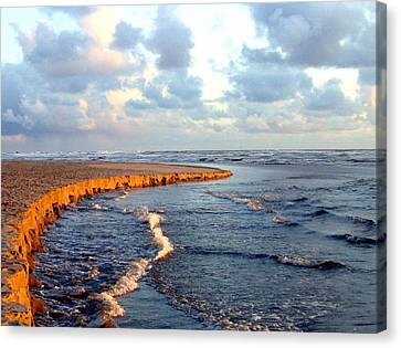 Canvas Print featuring the photograph Incoming Tide At Sundown by Will Borden