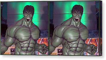 Incredible - Gently Cross Your Eyes And Focus On The Middle Image Canvas Print by Brian Wallace