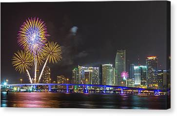 Independece Day Fireworks Canvas Print by Claudia Domenig