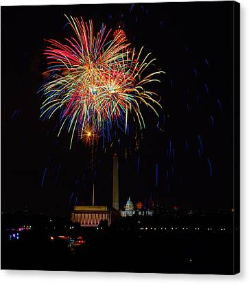Independence Day In Dc 2 Canvas Print by David Hahn