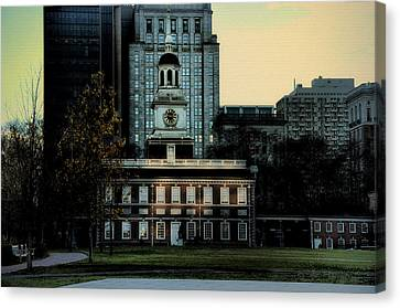 Independence Hall - The Cradle Of Liberty Canvas Print by Bill Cannon