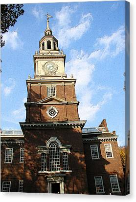 Independence Hall Canvas Print by Rick Thiemke