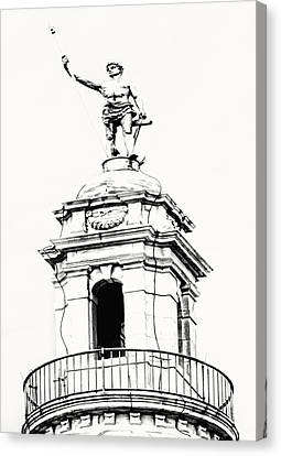 Cityhall Canvas Print - Independent Man2 by Lourry Legarde