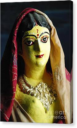 Canvas Print featuring the photograph Indian Beauty by Fotosas Photography