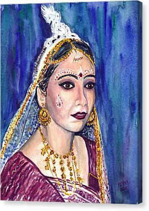 Indian Bride  Canvas Print by Clara Sue Beym