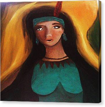 Indian Girlfriend Canvas Print by Vickie Meza
