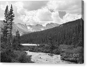Indian Peaks Summer Day Bw Canvas Print by James BO  Insogna
