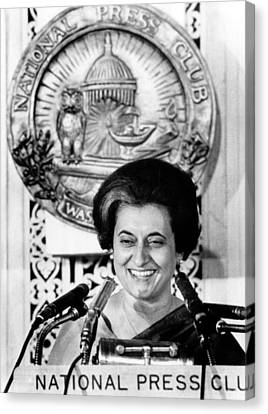 Indian Prime Minister, Indira Ghandi Canvas Print by Everett