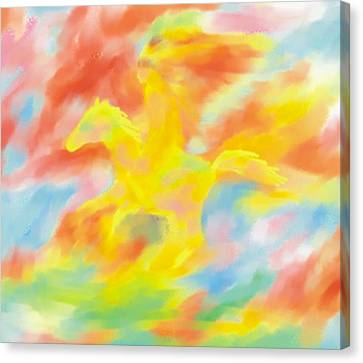 Canvas Print featuring the painting Indian Spash Of Colors by Larry Cirigliano