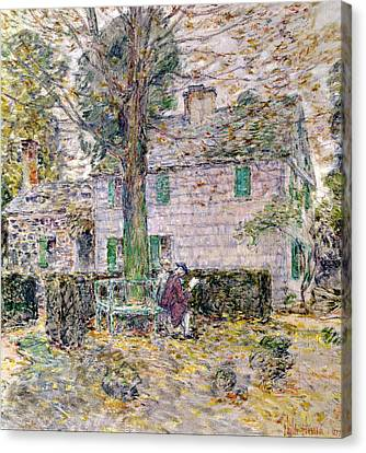 Indian Summer In Colonial Days Canvas Print by Childe Hassam