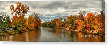 Indiana Autumn Landscape Canvas Print by Richard Fairless