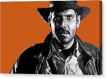 Indiana Jones Art Signed Prints Available At Laartwork.com Coupon Code Kodak Canvas Print by Leon Jimenez