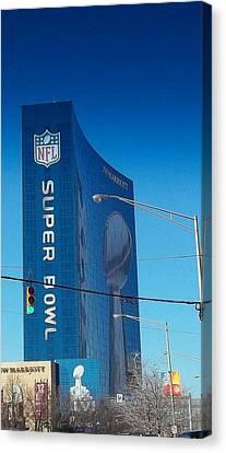 Indianapolis Marriott Welcomes Super Bowl 46 Canvas Print
