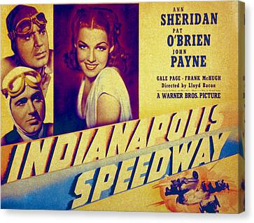 Indianapolis Speedway, Pat Obrien, John Canvas Print by Everett