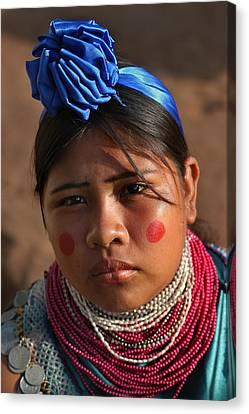 Indigenous Guarani Women. Department Of Santa Cruz. Republic Of Bolivia.    Canvas Print by Eric Bauer