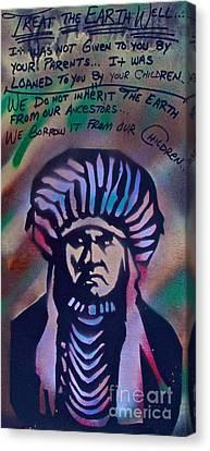 First Amendment Canvas Print - Indigenous Motto Earth Tones by Tony B Conscious