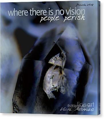 Canvas Print featuring the photograph Indigo Quartz Crystal by Vicki Ferrari