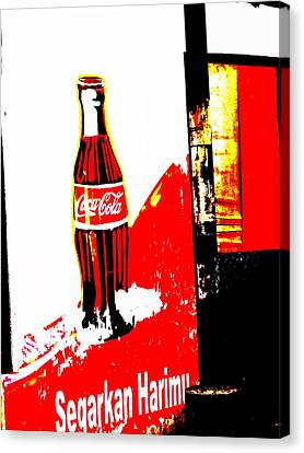 Indonesian Coke Ad Canvas Print by Funkpix Photo Hunter