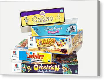 Indoor Games Canvas Print by Johnny Greig